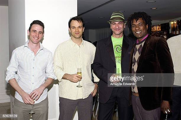 Chris Holbrook Patrick Grandaw Jerome Curchod and Allan Louis attend the post screening party for the 9th Annual City of Lights City of Angels Film...