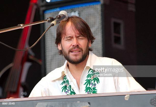 Chris Holland performs as support act at Jools Holland Concert at Kenwood House Hampstead on August 15 2009 in London England