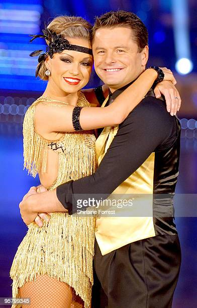 Chris Hollins and partner attend photocall to launch the Strictly Come Dancing Live Tour at MEN Arena on January 15 2010 in Manchester England