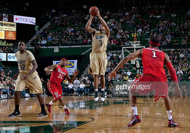 Chris Howard of the South Florida Bulls shoots against the St John's Red Storm during the game at the SunDome on February 20 2010 in Tampa Florida