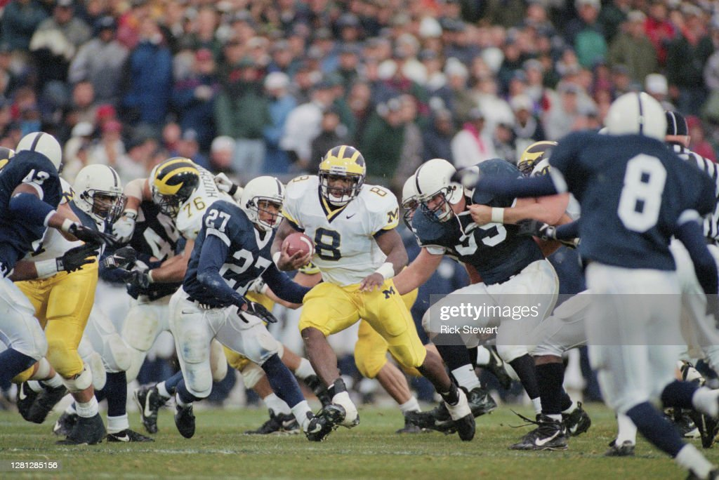 University of Michigan Wolverines vs Penn State Nittany Lions : News Photo