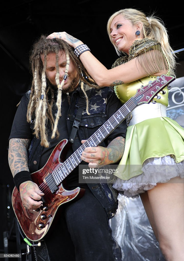 chris howorth and maria brink of in this moment perform as part of