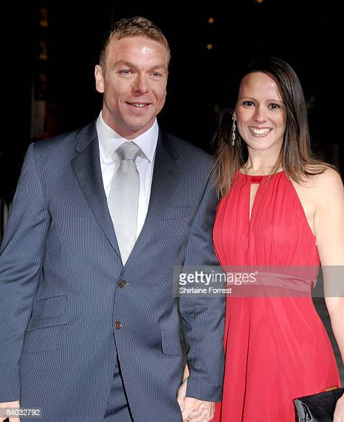 Chris Hoy and a guest attends the BBC Sports Personality of the Year awards at the Liverpool Echo Arena on December 14 2008 in Liverpool England