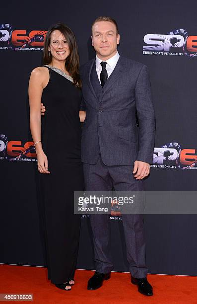 Chris Hoy and Sarra Hoy attend the BBC Sports Personality of the Year awards at the First Direct Arena on December 15 2013 in Leeds England