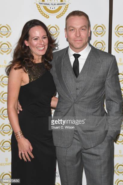 Chris Hoy and Sarra Kemp attend the National Film Awards UK at Porchester Hall on March 28 2018 in London England