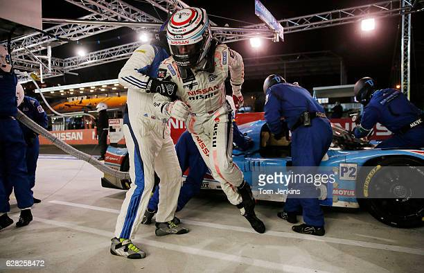 Chris Hoy leaps out of his Algarve Pro racing team Ligier car after a long night drive that finished at 430 am during the Le Mans 24 hour motorrace...