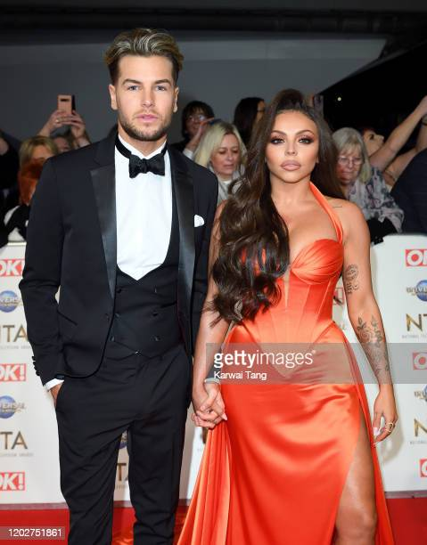 Chris Hughes and Jesy Nelson attend the National Television Awards 2020 at The O2 Arena on January 28, 2020 in London, England.