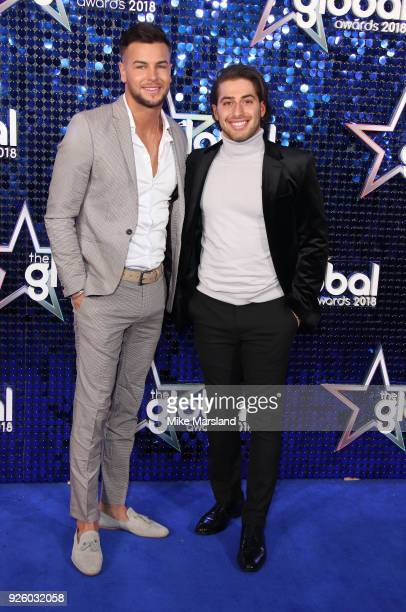 Chris Hughes and Kem Cetinay attend The Global Awards 2018 at Eventim Apollo Hammersmith on March 1 2018 in London England