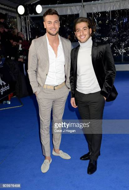 Chris Hughes and Kem Cetinay attend The Global Awards a brand new awards show hosted by Global the Media Entertainment Group at Eventim Apollo...