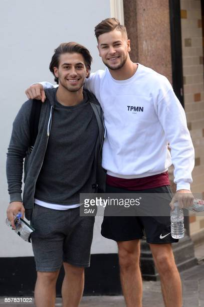 Chris Hughes and Kem Cetinay outside Global Studios on October 5 2017 in London England
