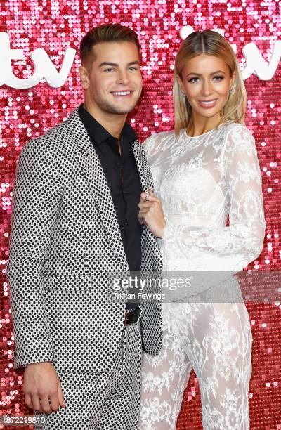 Chris Hughes and Olivia Attwood arriving at the ITV Gala held at the London Palladium on November 9 2017 in London England