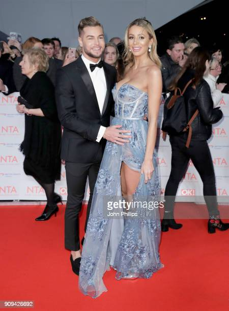 Chris Hughes and Olivia Attwood attend the National Television Awards 2018 at the O2 Arena on January 23 2018 in London England