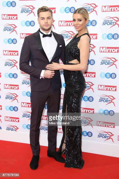 Chris Hughes and Olivia Attwood attend the Pride of Sport awards at Grosvenor House on November 22 2017 in London England