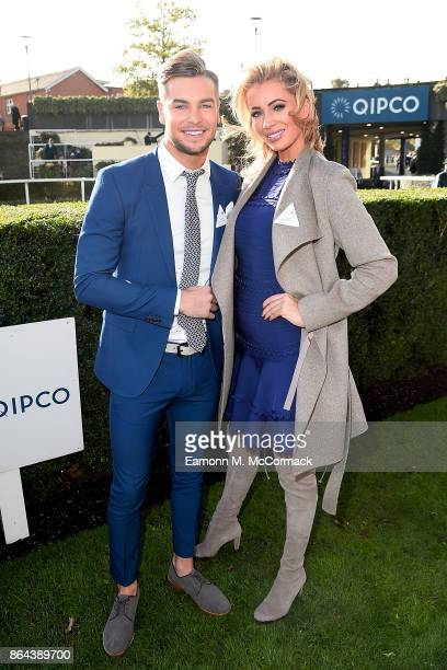 Chris Hughes and Olivia Attwood during the QIPCO British Champions Day at Ascot Racecourse on October 21 2017 in Ascot United Kingdom
