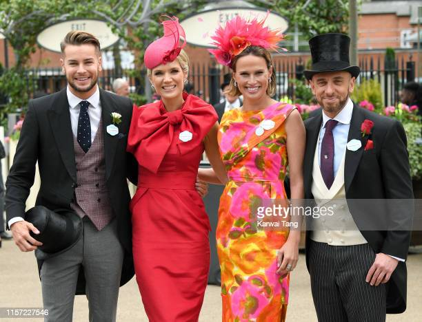Chris Hughes Charlotte Hawkins Francesca Cumani and Mark Heyes attend day three Ladies Day of Royal Ascot at Ascot Racecourse on June 20 2019 in...