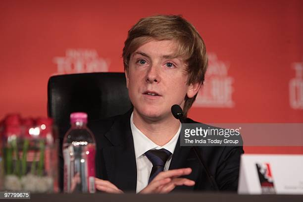 Chris Hughes CoFounder of Facebook at the India Today Conclave