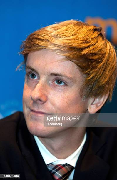 Chris Hughes cofounder of Facebook Inc speaks during a news conference at the 11th World Knowledge Forum in Seoul South Korea on Thursday Oct 14 2010...