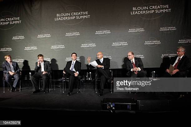 Chris Hughes of Facebook Nathan Eagle Gary Flake Ali Velshi of CNN Craig Newmark Jeffrey Friedberg of Microsoft attend 2010 Blouin Creative...