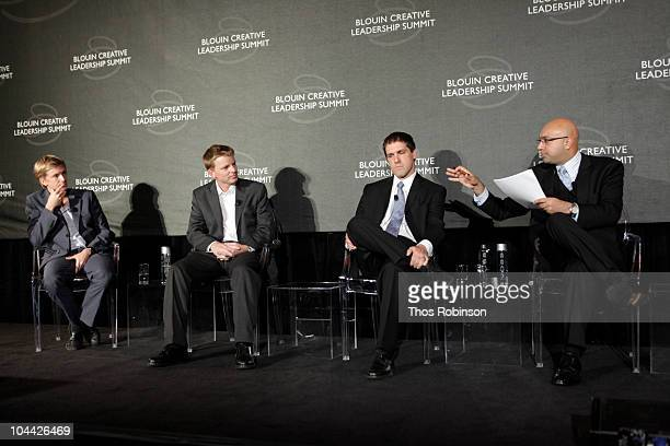Chris Hughes of Facebook Nathan Eagle Gary Flake Ali Velshi of CNN attend 2010 Blouin Creative Leadership Summit Day 2 at the Metropolitan Club on...