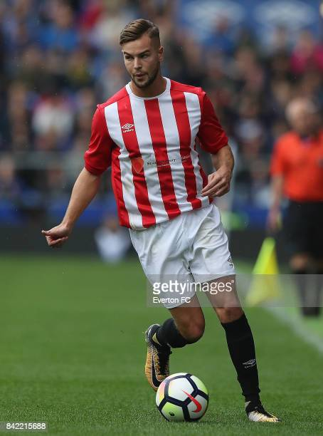 Chris Hughes of The Lowery Legends in action during the Bradley Lowery Charity Game at Goodison Park on September 3 2017 in Liverpool England