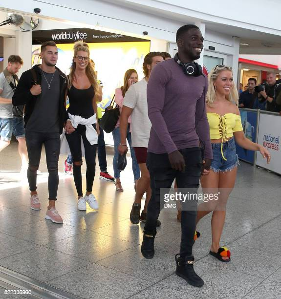 Chris Hughes Olivia Attwood Camilla Thurlow Jamie Jewitt Gabby Allen Marcel Somerville Amber Davies and Kem Cetinay Love Island stars arrive back at...