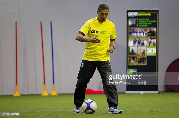 Chris Hughton manager of Birmingham City during the 'Kick it Out' Campaign day at the Aston Villa academy Villa Park on October 17 2011 in Birmingham...
