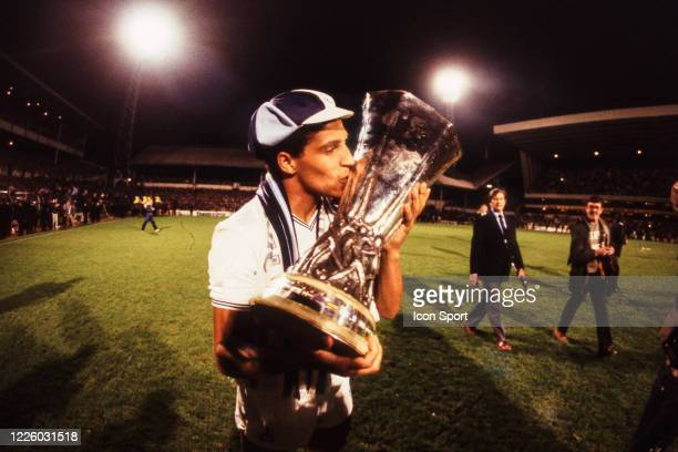 Chris HUGHTON of Tottenham celebrate the victory with the trophy during the UEFA Final Cup second leg match between Tottenham and Anderlecht at White...