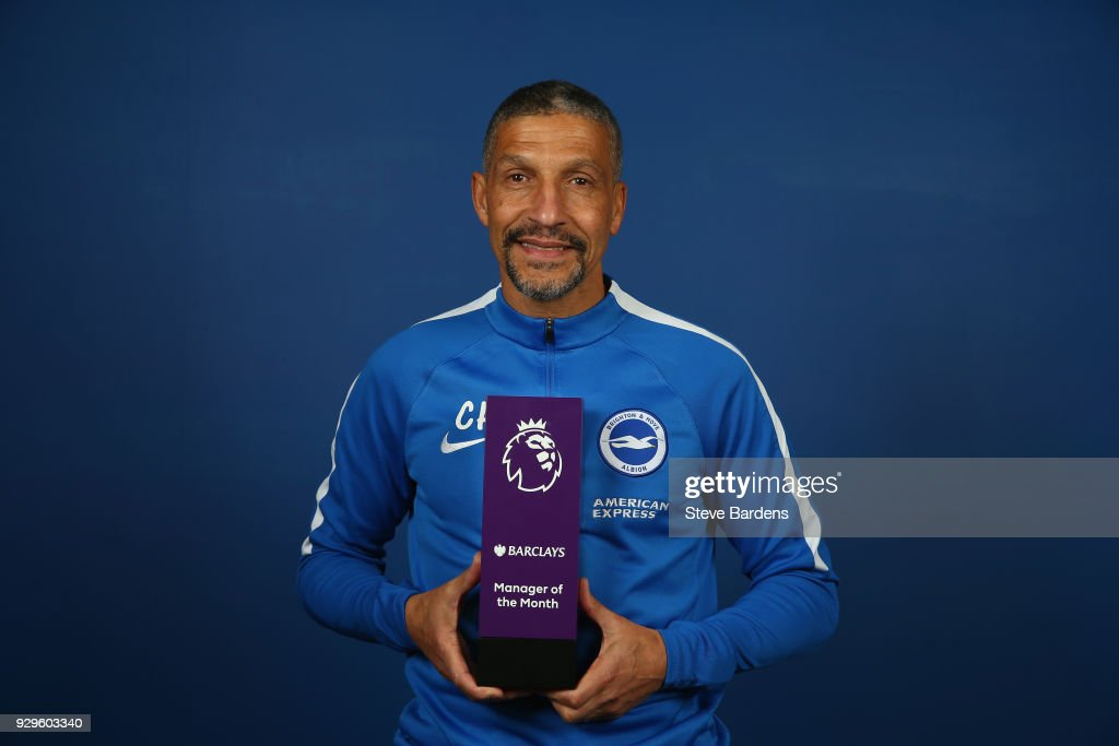 Chris Hughton wins the Barclays Manager of the Month Award - February 2018