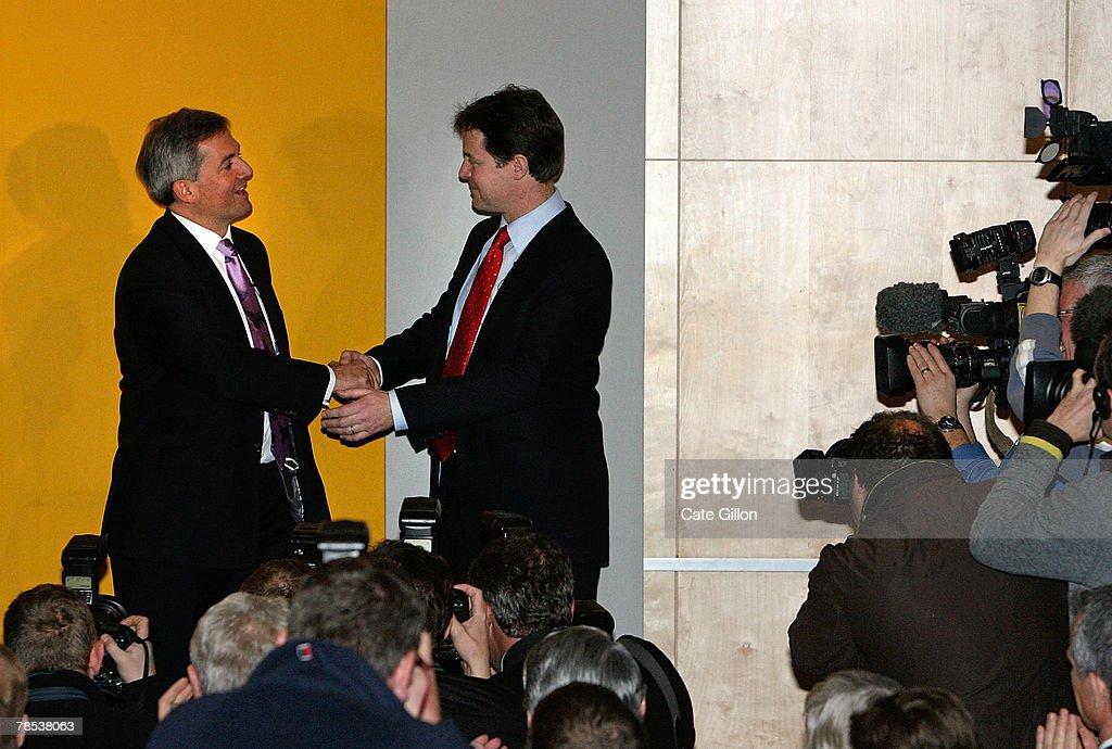 Lib Dem's Announce New Leader : News Photo
