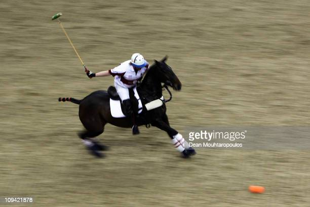 Chris Hyde of EFG Bank Team England in action during The First International Gaucho International Polo Test match between Engalnd and Argentina at 02...