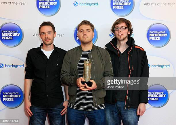 Chris Illingworth Nick Blacka and Rob Turner of GoGo Penguin attend the Barclaycard Mercury Prize nominations launch at The Hospital Club on...