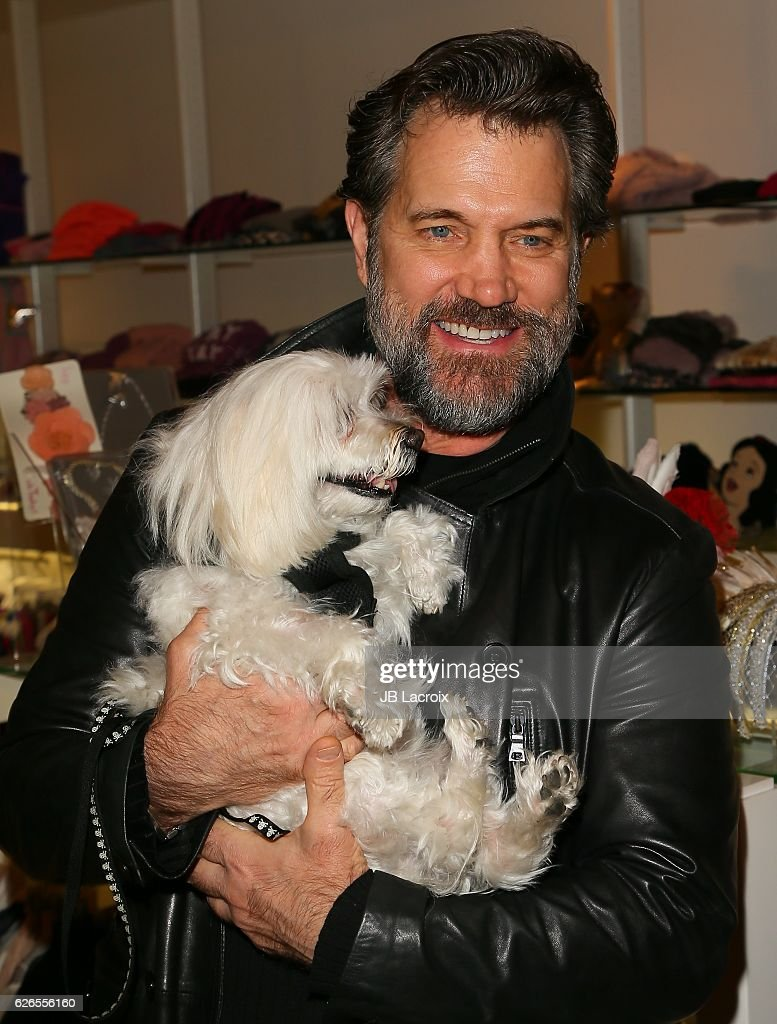 Chris Isaak attends the exhibits 'Artists With Animals' held at Ron Robinson's store on November 29, 2016 in Santa Monica, California.