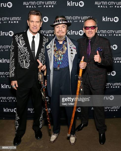 Chris Isaak Dr John and Elvis Costello attend the Austin City Limits 2017 Hall of Fame Inductions at ACL Live on October 25 2017 in Austin Texas