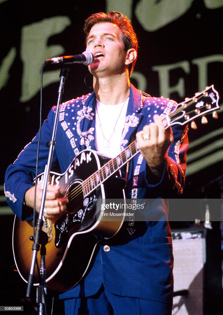 Chris Isaak performing at Live 105 3's BFD in 1995 at the