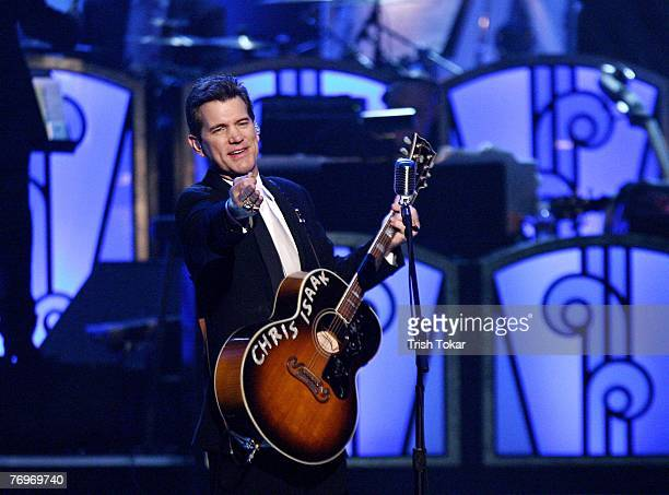 Chris Isaak performs at the 29th Annual Evening of Stars honoring Smokey Robinson presented by the United Negro College Fund at the Pasadena Civic...