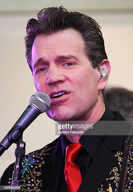 Chris Isaak performs during JetBlue's Live from T5 Concert Series at JFK Airport on December 15, 2011 in New York City.