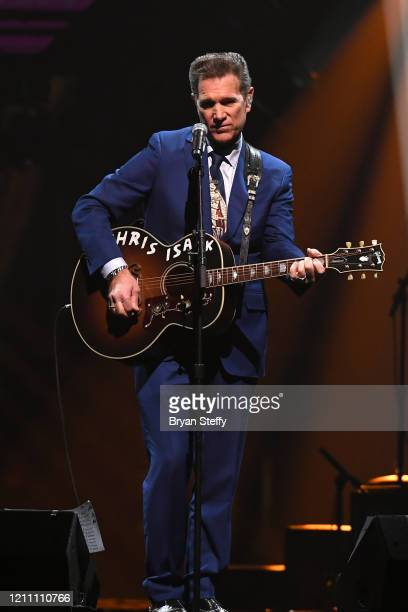 Chris Isaak performs onstage at the 24th annual Keep Memory Alive 'Power of Love Gala' benefit for the Cleveland Clinic Lou Ruvo Center for Brain...
