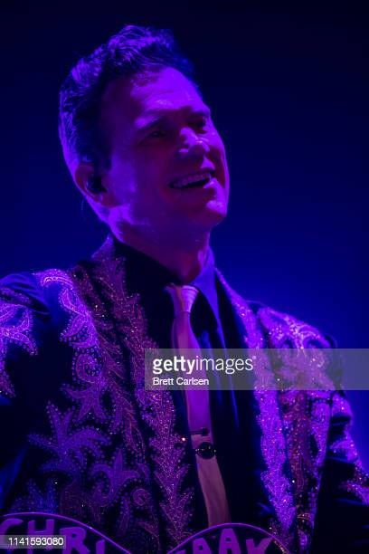 Chris Isaak performs with Midland at the Ryman Auditorium on May 5 2019 in Nashville Tennessee