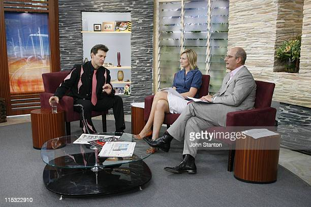 Chris Isaak with hosts Melissa Doyle and David Koch