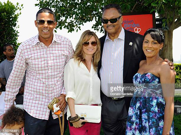 Chris Ivery actress Ellen Pompeo with daughter Stella Ivery Reverend Jesse Jackson and guest attend the 1st Annual Children Mending Hearts Style...