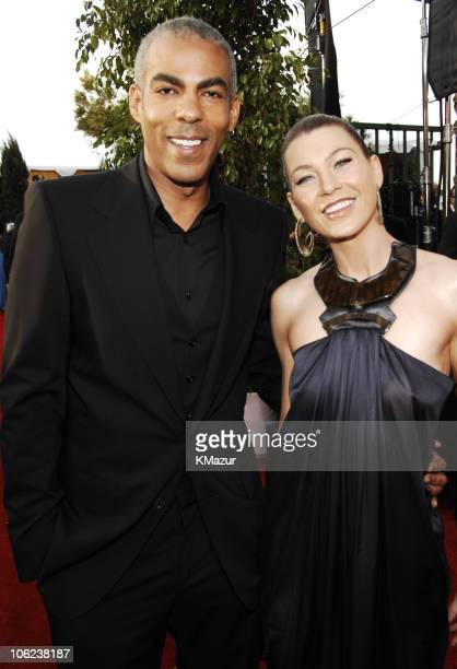 Chris Ivery and Ellen Pompeo 12864_KM_0656JPG during TNT/TBS Broadcasts 13th Annual Screen Actors Guild Awards Red Carpet at Shrine Auditorium in Los...