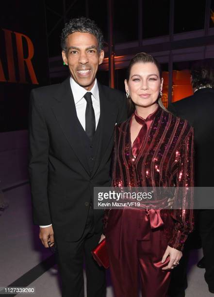 Chris Ivery and Ellen Pompeo attend the 2019 Vanity Fair Oscar Party hosted by Radhika Jones at Wallis Annenberg Center for the Performing Arts on...