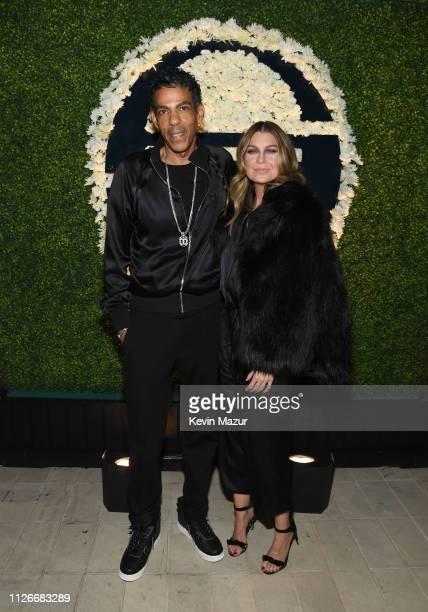 Chris Ivery and Ellen Pompeo attend the Sergio Tacchini STLA Launch on February 21 2019 in Los Angeles California