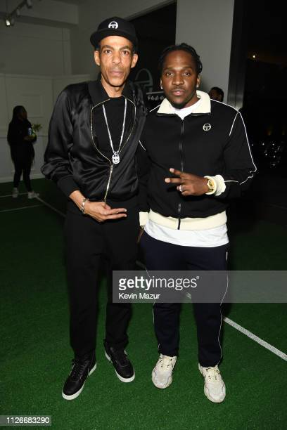 Chris Ivery and Pusha T attend the Sergio Tacchini STLA Launch on February 21, 2019 in Los Angeles, California.