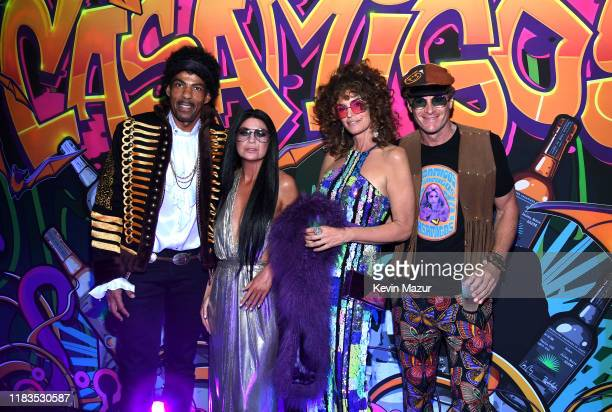 Chris Ivery Ellen Pompeo Cindy Crawford and Rande Gerber attend the 2019 Casamigos Halloween Party on October 25 2019 at a private residence in...