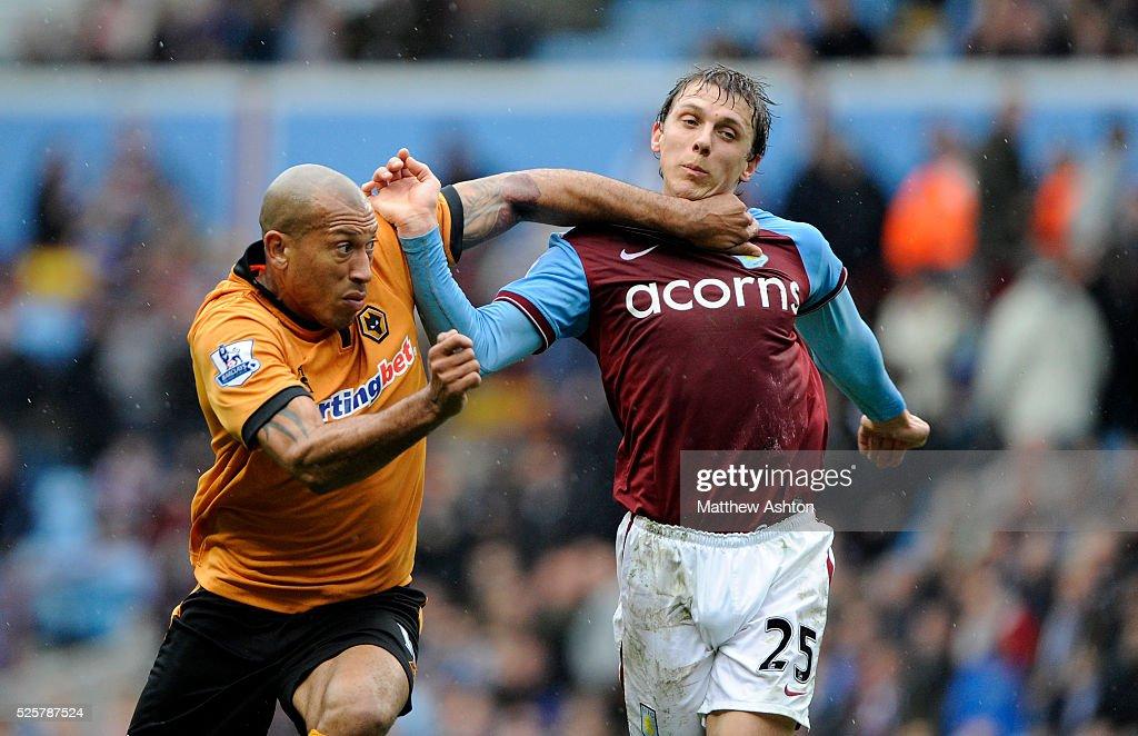 Soccer - Barclays Premier League - Aston Villa vs. Wolverhampton Wanderers : News Photo