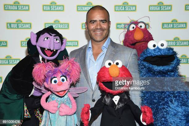 Chris Jackson and The Muppets attend The 2017 Sesame Workshop Dinner at Cipriani 42nd Street on May 31 2017 in New York City