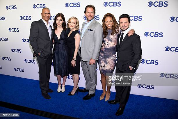 Chris Jackson Annabelle Attanasio Geneva Carr Michael Weatherly Jaime Lee Kirchner and Freddy Rodriguez attend 2016 CBS Upfront at The Plaza on May...