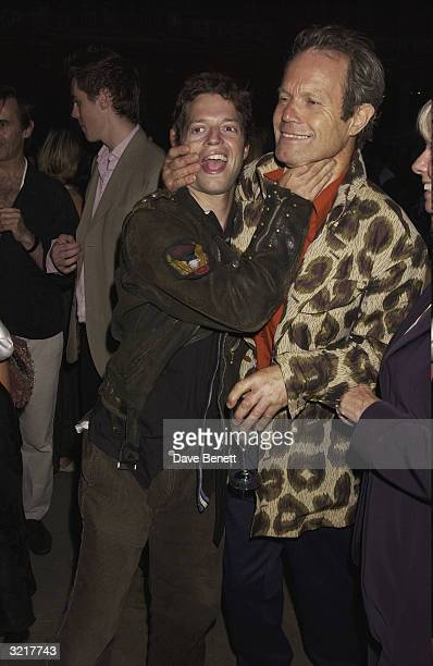Chris Jagger and his son attend the Ozzie Clark Retrospective at The Victoria and Albert Museum on July 15 2003 in London