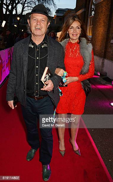 Chris Jagger and Kari Ann Moller attend a private view of 'The Rolling Stones Exhibitionism' at The Saatchi Gallery on April 4 2016 in London England